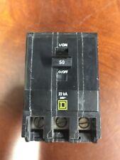 1 SqD Square D Qob350Vh 3 Pole 50 Amp 22kAic Rated Breaker