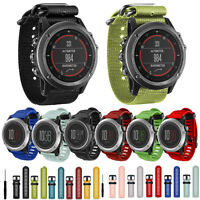 For Garmin Fenix 3 WristBand Nylon/Silicone Strap Replacement Band With Tools UK