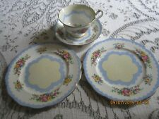 """ROYAL ALBERT Crown China TRIO """"PRUDENCE"""" with Extra Plate"""