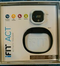 iFit Act Activity Tracker Bracelet s-m Black Two Size Rubber Bands pod and band