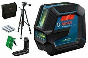 Bosch Green Professional Laser Level GLL 2-15 G + LB10 + BT15 Tripod