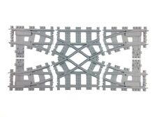 Trixbrix Doppio Scambio R40, compatibile con i treno Lego, stampato in 3d