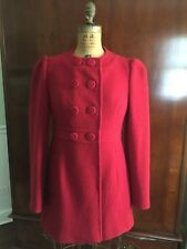 French Connection Women's 100% Wool Jacket Coat Red Size 8