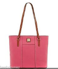 NWT Dooney & Bourke Small Lexington Pebbled Leather Shopper Pink