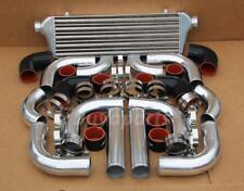 2.5' CHROME PIPING+Intercooler KIT+BLACK COUPLER CLAMP TURBOCHARGER SUPERCHARGER