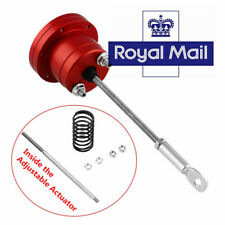 UK ! Universal Red Turbo Adjustable Wastegate Actuator and Rod Aluminum Alloy