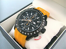 NEW IN BOX Nautica Men's NST 101 Stainless Watch Yellow Resin Band N18599G