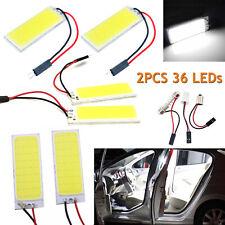 2X 12V Xenon HID White 36 COB LED Dome Map Light Bulb Car Interior Panel Lamp CA
