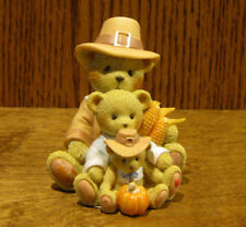 "Cherished Teddies #4053448 THEODORE, SAMANTHA & TYLER  ""A BOUNTIFUL HARVEST..."""