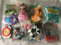 Vintage Lot of 9 McDonalds Happy Meal Toys - Power Rangers, Animaniacs, Barbie