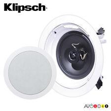 "Klipsch R-1650-C In-Ceiling Speaker 6.5"" 2-Way Speakers. Moisture-resistant. New"