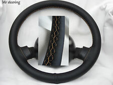 FOR PEUGEOT 505 1979-92 REAL ITALIAN LEATHER STEERING WHEEL COVER BEIGE STITCH