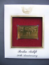 1998 Berlin Airlift 50th Anniversary 22kt Gold GOLDEN FDC Cover  STAMP replica