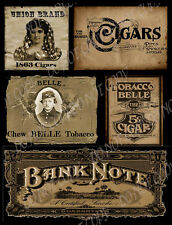 Primitive, Vintage Labels  ~ Cigars  - #FH286