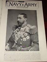 1896 Prince Alfred Galatea Captain Duke Von Edinburgh Lithograph