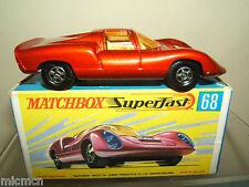 """MATCHBOX SUPERFAST MODEL No.68c """"Porsche 910"""" VN En parfait état, dans sa boîte"""