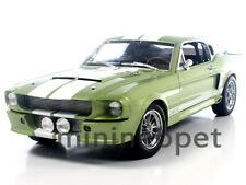 COLLECTIBLES 186 1967 SHELBY MUSTANG GT500 GT 500 1/18 GREEN w WHITE STRIPES