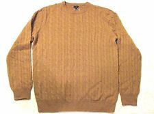 $303 J CREW MEN'S TALL ITALIAN CASHMERE CABLE SWEATER NWT IN CAMEL #53731