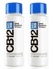 2 x CB12 Mouthwash Original Mint / Menthol 250ml bottle (Total = 500ml)