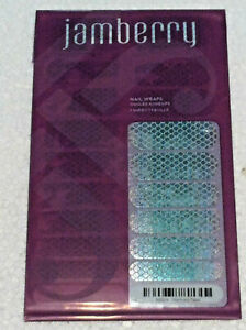 Jamberry A1004 Mermaid Tales Full Sealed Sheet of Retired Nail Wraps Fish Scales