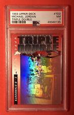 1993 Upper Deck Triple Double #TD2 Michael Jordan PSA 7