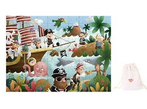 Wooden Interlocking jigsaw puzzle 100 pcs ~ Pirate Theme by Tooky Toys