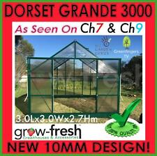 10mm ALUMINIUM POLYCARBONATE Garden GREENHOUSE Shade GREEN HOT HOUSE Shed 3.0S