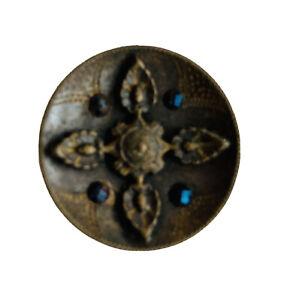 Medium Antique Vintage Victorian Cut Steel  Button #SC3