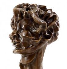 Kubistischer Kopf - Viki (1912/13) - Bronze, signiert Otto Gutfreund