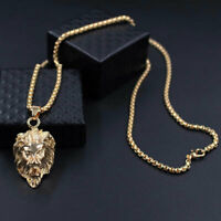 Elvis Presley TCB NY Concert Jumpsuit Stage Lion Head Gold Necklace Pendant Rock