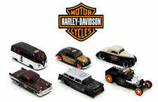 "HARLEY DAVIDSON ASSORTMENT WAVE ""1"" 6 CARS SET 1:64 DIECAST BY MAISTO 15380-W1"