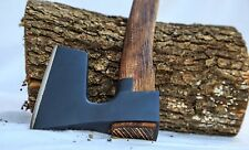 ※ BEARDED STEEL AXE / HATCHET WITH METAL GUARD VIKING STYLE  WITH CURVED HANDLE