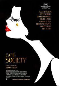 CAFE' SOCIETY DI WOODY ALLEN - POSTER ORIGINALE ITALIANO 70x100 CM NON PIEGATO
