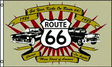 3'x5' ROUTE 66 CLASSIC CARS FLAG Get your Kicks on OUTDOOR BANNER NEW 3X5