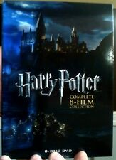 Harry Potter Complete 8-Film Collection DVD (CASE,COVER, & ALL DISC)