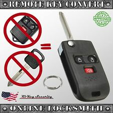Keyless Entry Remote and Key Convert To Flipped Key DIY Programming 3 buttons