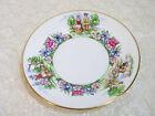 "Evangeline's Acadian Gardens, 6 1/2"" Plate, Crown Staffordshire"