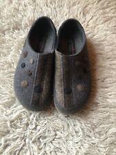 Haflinger 39 Wool Shoes Slippers Dots Stripes Grey $120