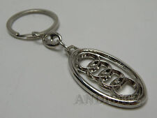 GIFT IDEA CHROME KEY CHAIN KEYRING AUDI A1 A2 A3 A4 A6 A8 TT QUATTRO CAR