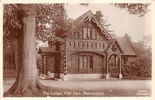 BEACONSFIELD BUCKINGHAMSHIRE UK THE LODGE HALL BARN HAWKES REAL PHOTO POSTCARD
