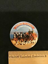 New listing Budweiser Clydesdales Beer Wagon Advertising Button Pinback ~ New