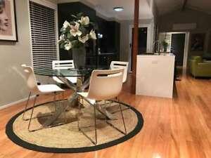 Jute Natural Round Rug Jute Carpet Reversible Braided 7x7 Feet Rustic Look
