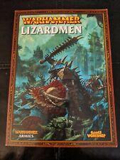 Warhammer Lizardmen Armies Book Games Workshop 2009