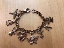 MILOR Angel Charm Bracelet Stainless Steel Rose Gold Tone  Religious Faith