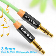 6Ft Premium Zinc 3.5mm Gold Plated Tangle-Free Auxiliary Audio Stereo Cable Cord