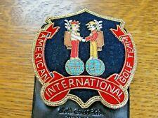 AMERICAN INTERNATIONAL GOLF TEAM Bullion Badge by Gold Crest, Ltd. Calif