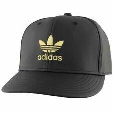adidas Originals Men's Trefoil Snapback Cap, Black / Gold, NEW !!