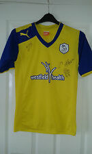 Mens Football Shirt - Sheffield Wednesday - AWAY 2012-13 4 TEAM SIGNED - Size S