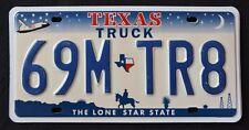 "TEXAS "" LONE STAR MAP SHUTTLE COWBOY - TRUCK "" TX Graphic License Plate"