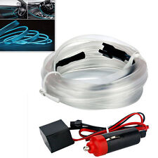 Car 2M Neon EL Wire Cold light Flexible Unique Decor Fluorescent ICE Blue Strip